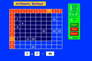 Интерактивный тренажер таблицы умножения