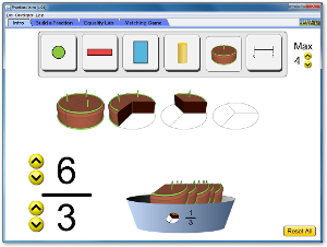 Fractions Intro simulation