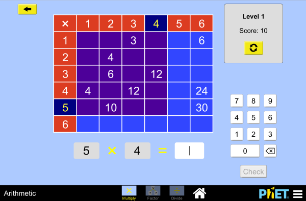 Arithmetic Screenshot