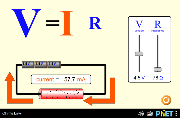 Ohm's Law Screenshot.