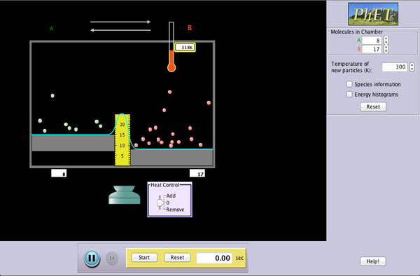 Reversible Reactions screenshot.