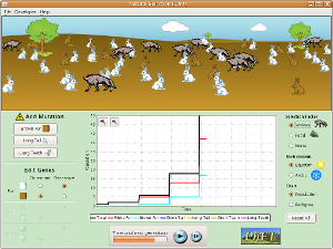 Natural Selection Simulation Game