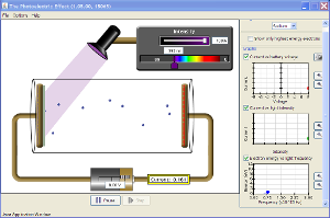 Photoelectric Effect Screenshot