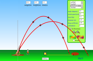 Projectile Motion Screenshot